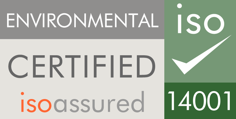 Environmental certified isoassured 14001